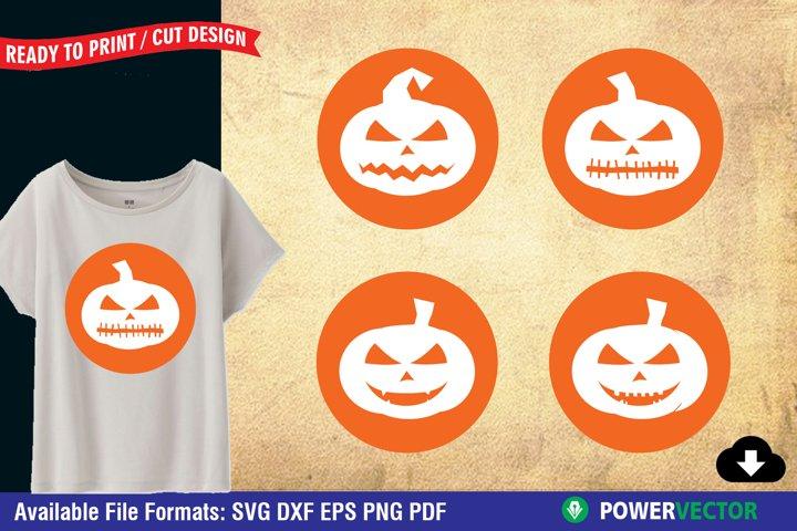 Pumpkin Face, Halloween SVG Clipart for Crafters