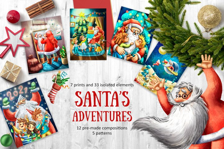 Santas Adventure - Clip Art Set