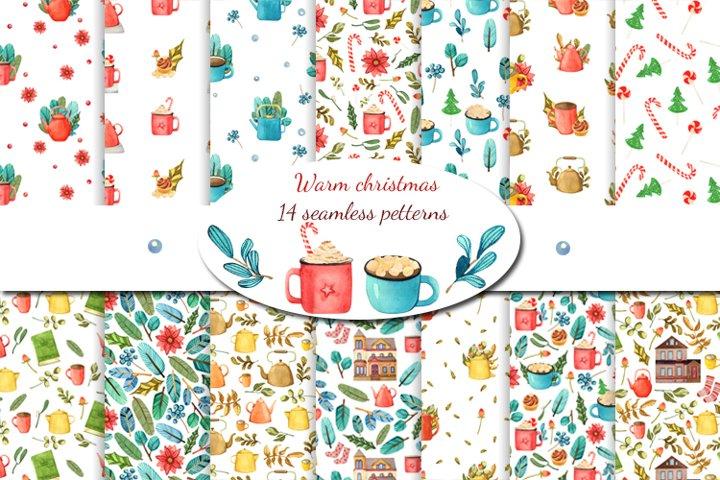 Digital scrapbook paper Warm Christmas