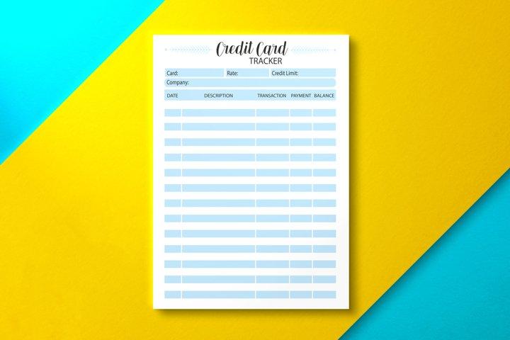 Credit Card Tracker, KDP INTERIOR