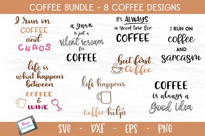 Coffee Bundle - 8 Coffee SVG files