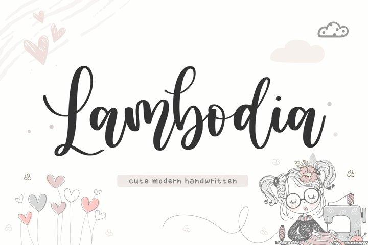 Lambodia Cute Modern Handwritten Font