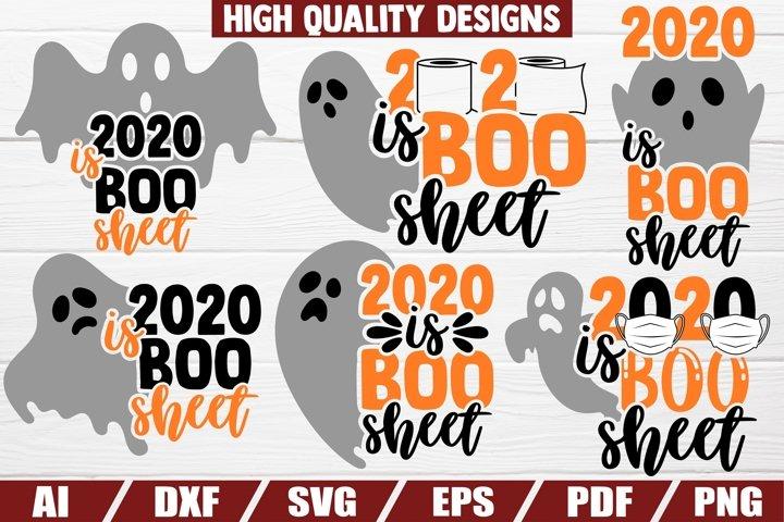 2020 is BOO sheet - 6 designs - halloween - coronavirus
