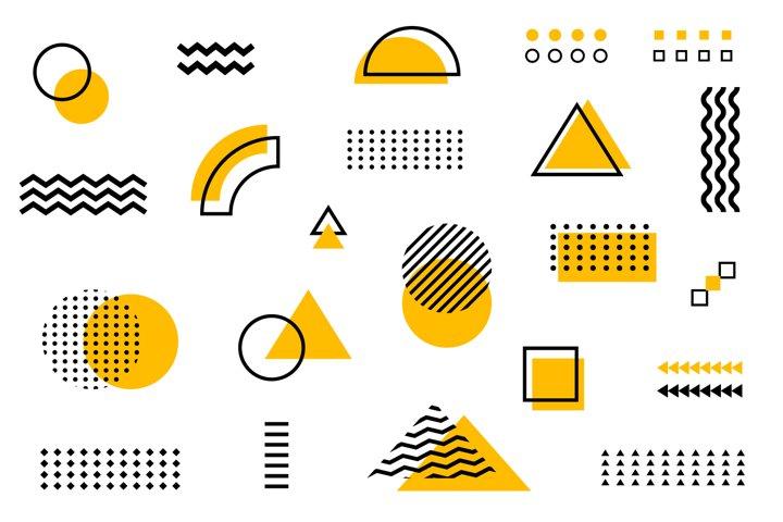 Memphis pattern vector illustration