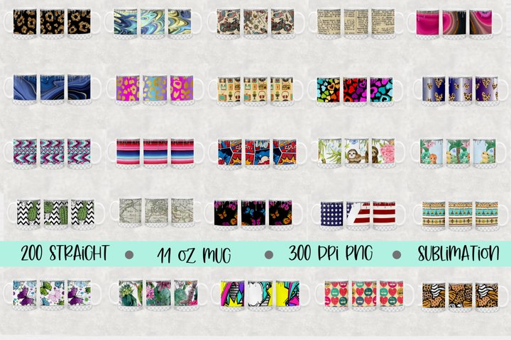 11oz Mug Sublimation files 200 high res sublimation designs