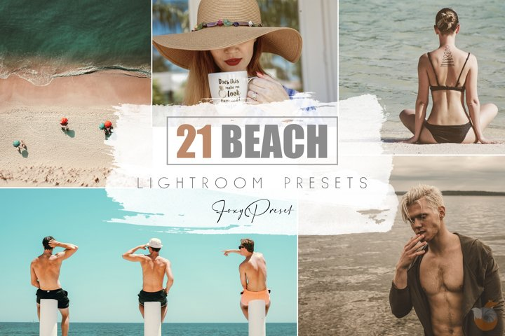 21 Beach Mobile & Desktop Lightroom Presets
