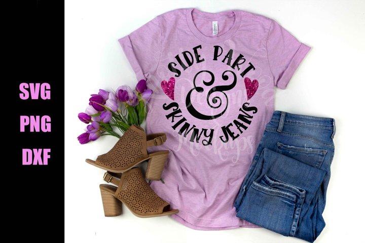 Side Part & Skinny Jeans SVG - Downloadable Files