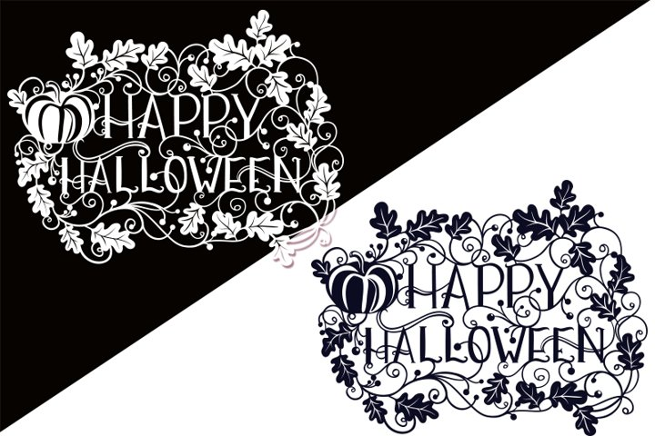 Happy Halloween SVG Papercut File - Free Design of The Week Design0