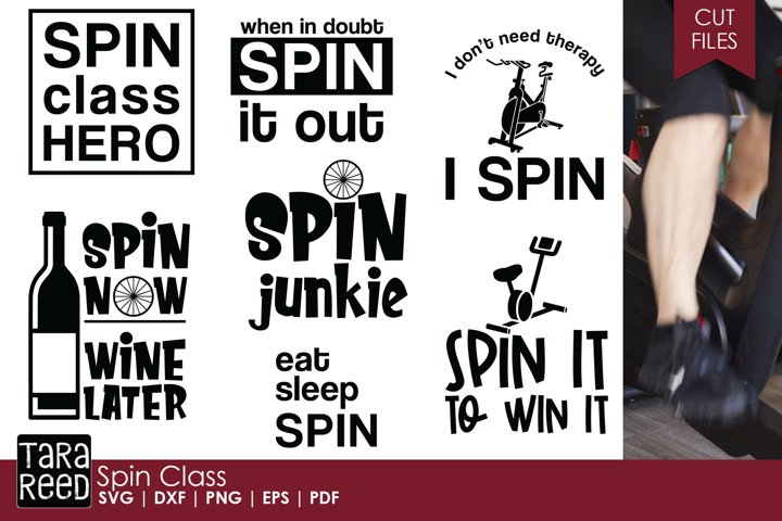 Spin Class - Exercise SVG and Cut Files for Crafters