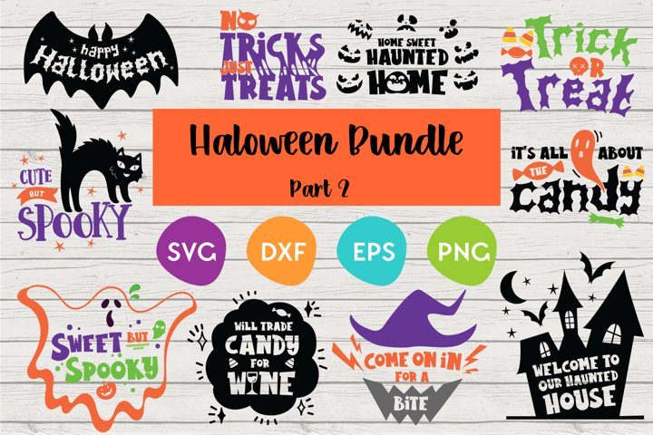 Halloween SVG Bundle | Cut files for silhouette and Cricut