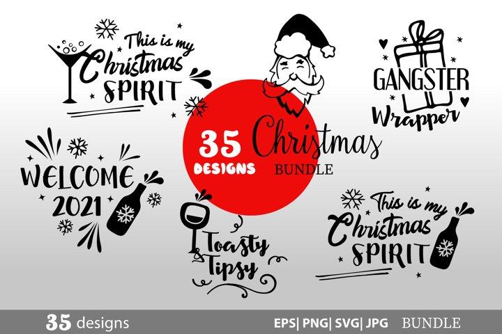 Christmas Bundle SVG bundle 35 designs SVG