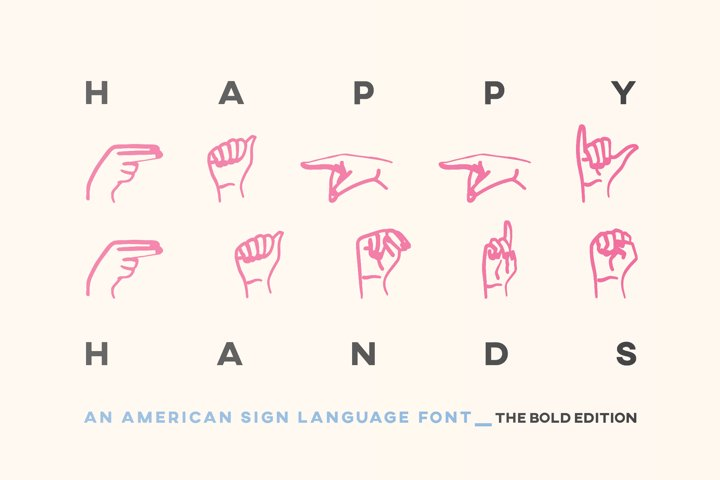 ASL Font American Sign Language Symbols Alphabet Numbers