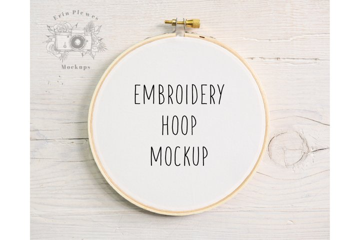 Embroidery Hoop Mock Up  Cross Stitch Mockup  Sewing Mock-up
