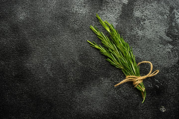 Rosemary herb as a cooking concept