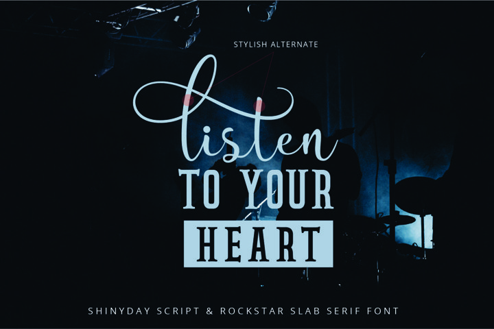 Shinyday & ROCKSTAR font duo - Free Font of The Week Design8