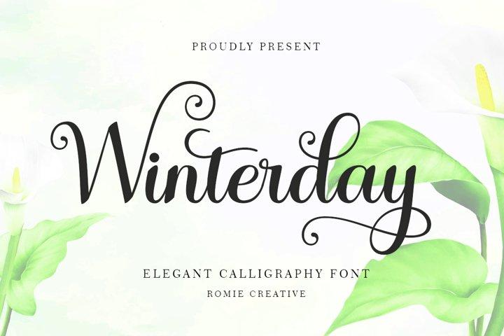 Winterday - Elegant Calligraphy font