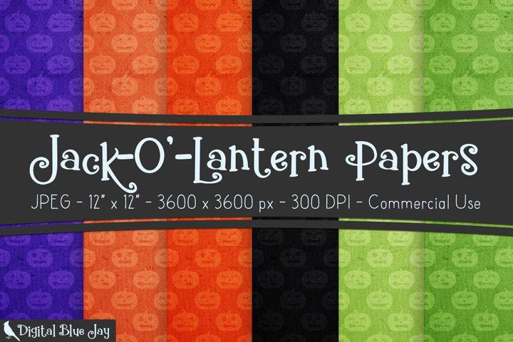 Digital Scrapbook Paper Backgrounds - Halloween