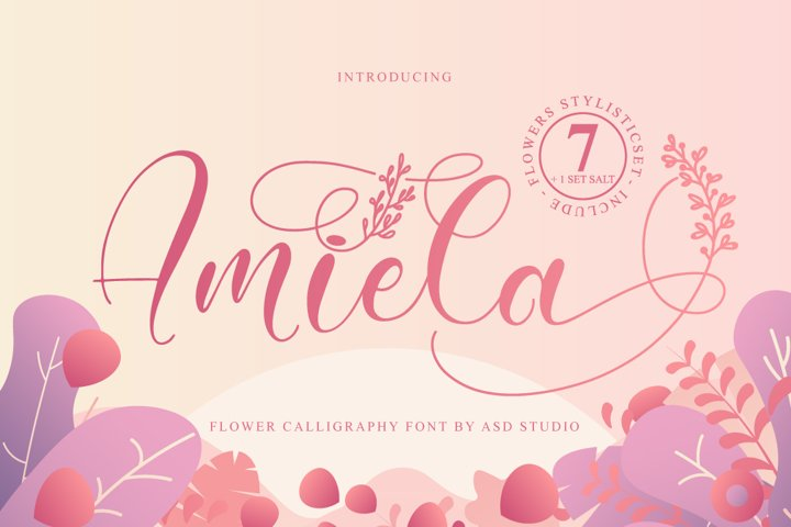Amiela - Flower Calligraphy