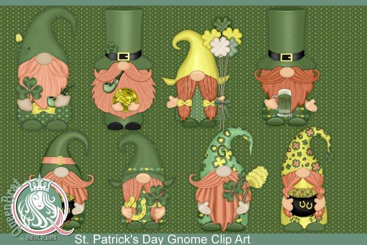 St. Patricks Day Gnomes Clip Art Bundle