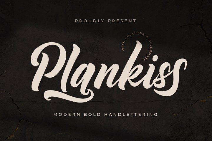 Plantkiss - Logotype Font