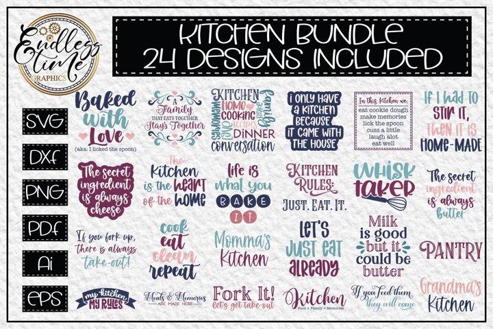 Kitchen SVG Bundle - 24 Unique SVG Designs for Kitchen Decor