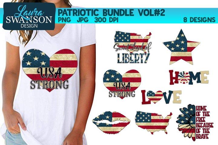 Patriotic Bundle #2 PNG, JPG, Sublimation, PrintnCut