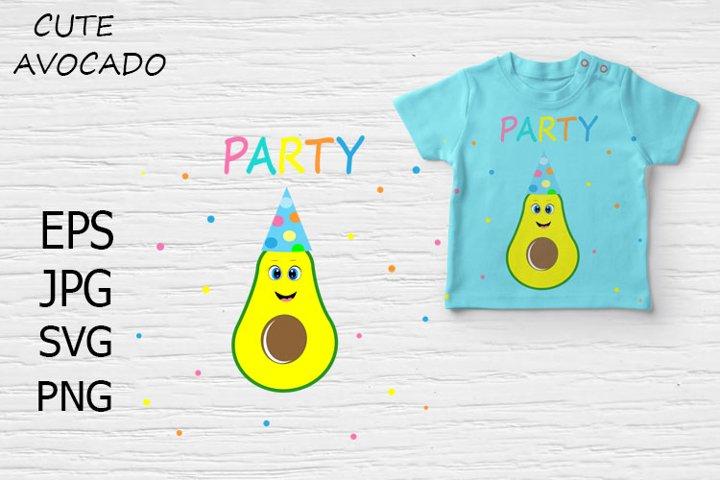 Cute Avocado Party.