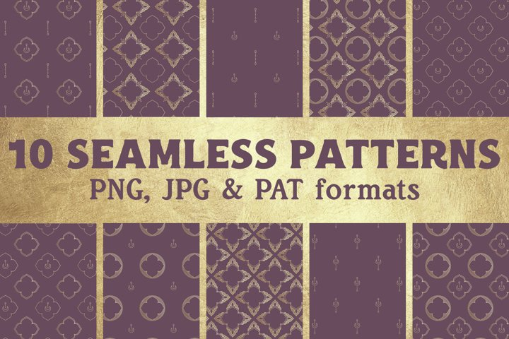 Bohemian Art Deco Vintage Digital Paper - Seamless Pattern
