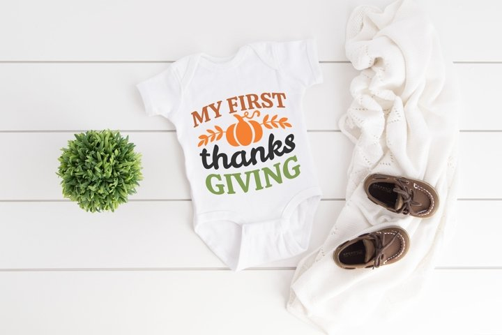 My First Thanksgiving SVG, Fall Sayings SVG files for Cricut