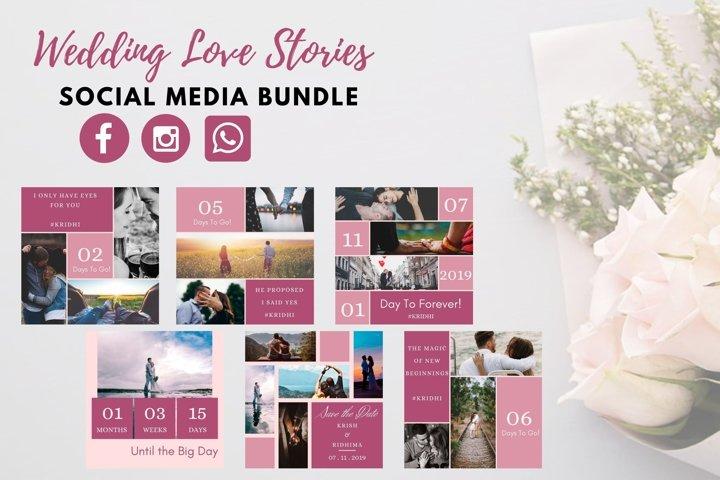 Social Media Templates- Wedding Love Stories