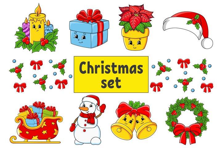Christmas Set Digital Clip Art PNG
