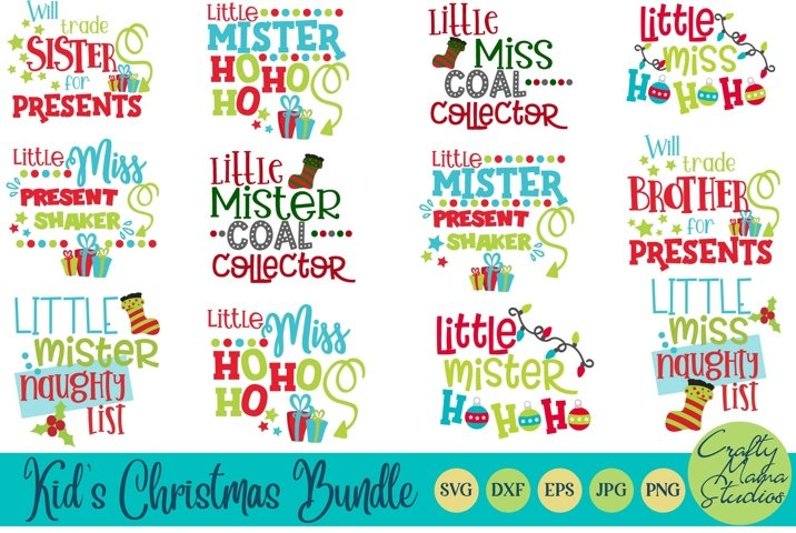 Christmas SVG, Kids Christmas Bundle Sublimation
