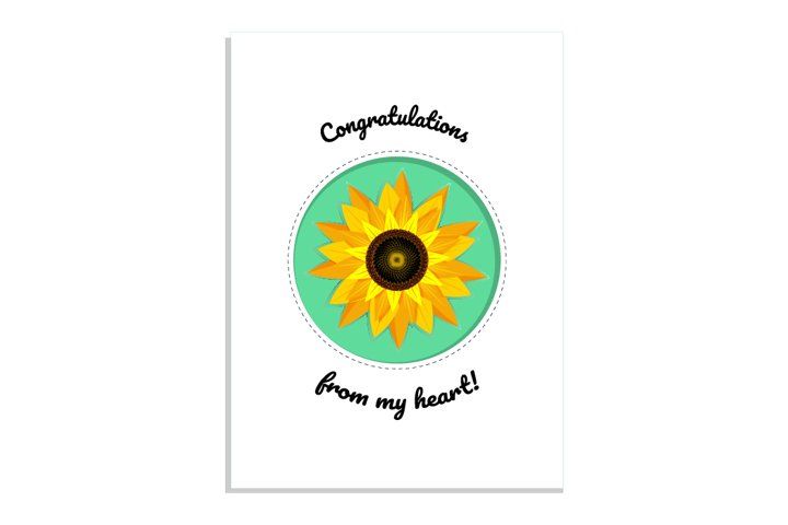 Greeting card Congratulations from my heart!