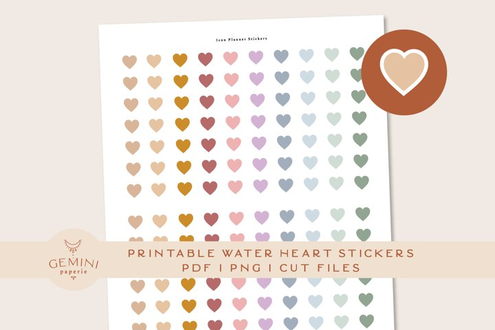 Heart Icon printable Stickers