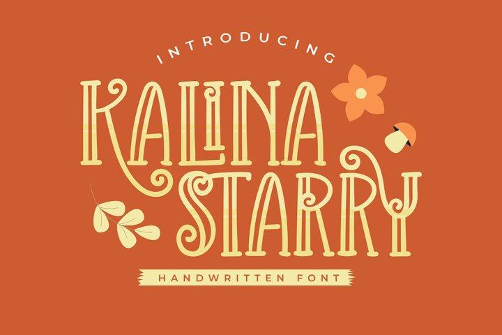 Kalina Starry | Handwritten Font