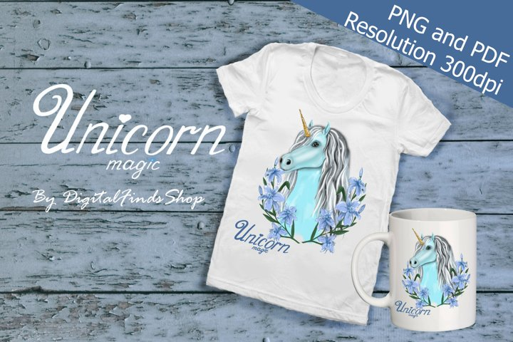 Unicorn sublimation PNG and PDF format