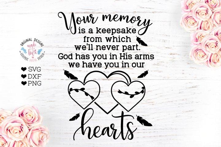 Your memory is a keepsake - Memorial Cut File