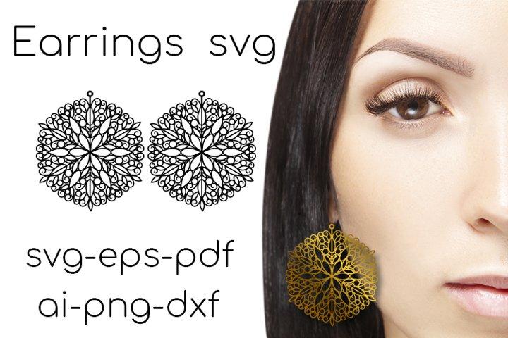 Earrings SVG. Earrings Cut File. Leather Earring svg. vol.4