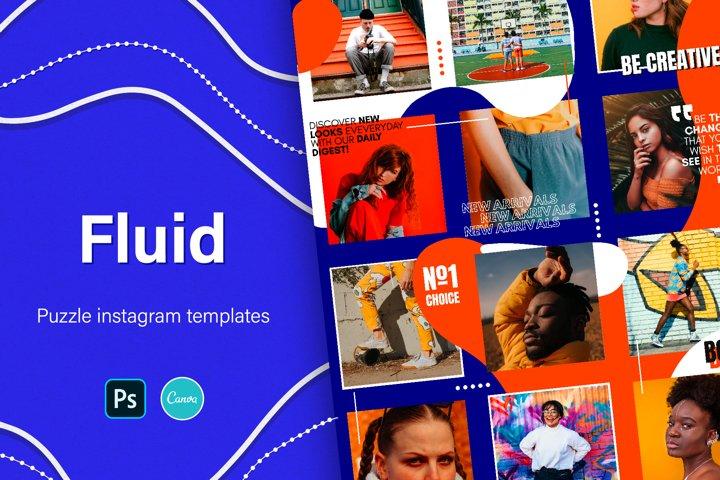 Fluid   Puzzle Instagram Templates