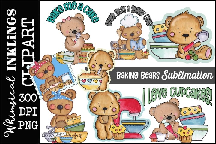 Baking Bears-Sublimation Bundle