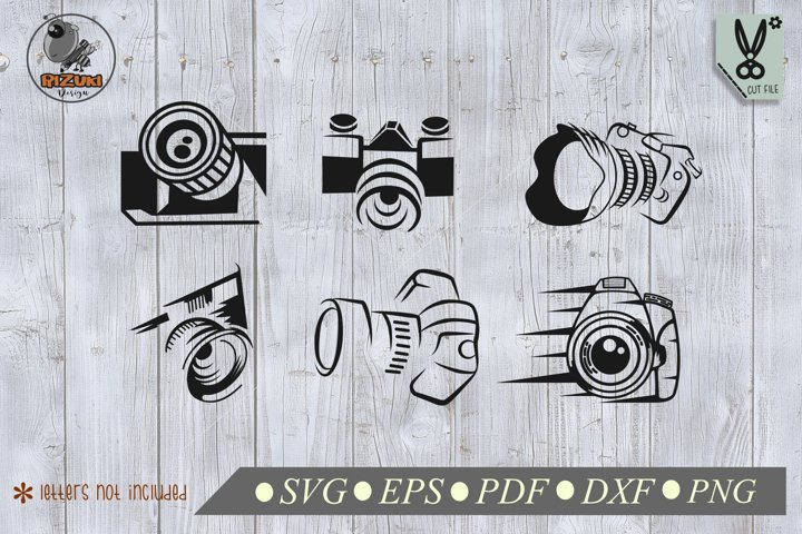 Photography SVG, 6 sets camera silhouette, photography image