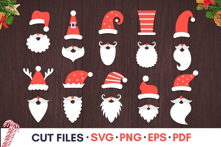 Santa hat svg Christmas hat svg Christmas photo booth props