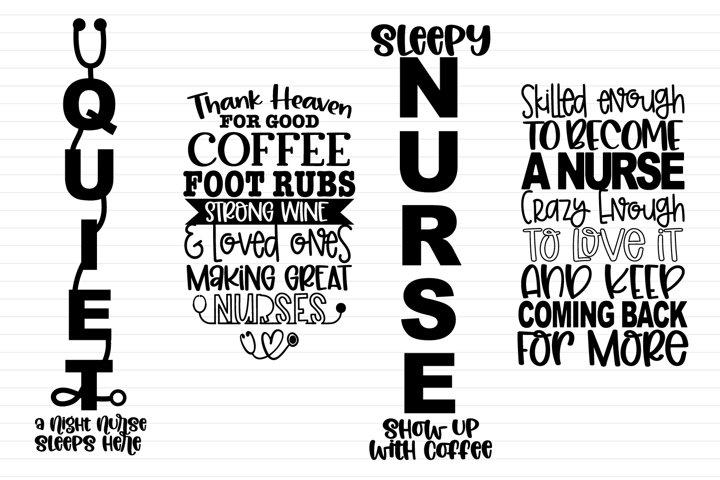 Nurse Porch Signs - 4 Funny Nurse Porch Signs
