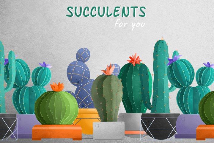 Set of Succulents