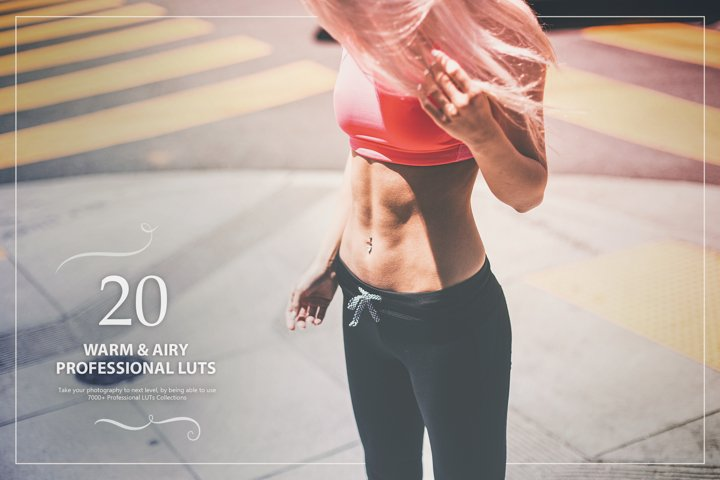 20 Warm & Airy LUTs Look Up Tables
