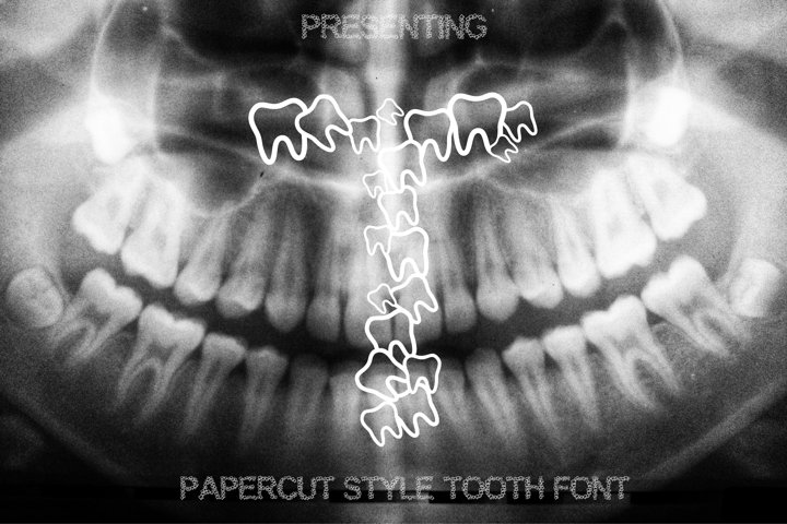 Teeth Font - Alphabets Tooth Font for Crafters