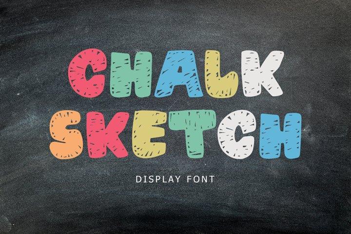 Chalk Sketch Display Font