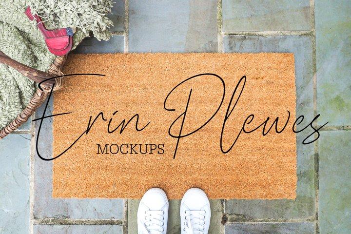 Coir Mat Mockup | Door Mat Mock Up | Farmhouse Rug Mock-up