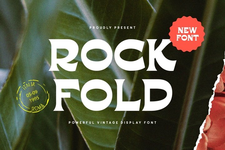 Rockfold - Powerful Vintage Display Font