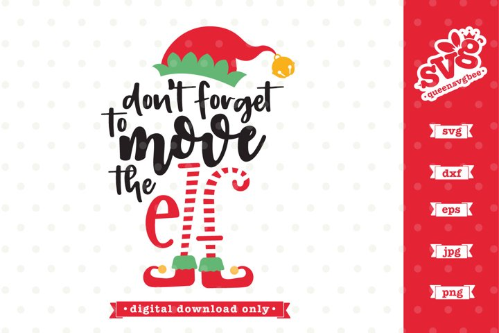 Dont forget to move the Elf SVG file | Funny Christmas SVG
